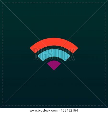 Simple RSS. Color symbol icon on black background. Vector illustration