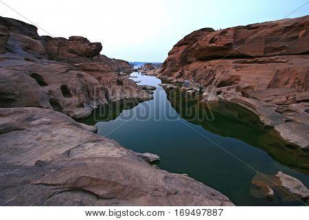 3000 Holes Lake, Grand Canyon of Thailand at Border with Loas