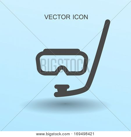 Diving mask vector icon illustration