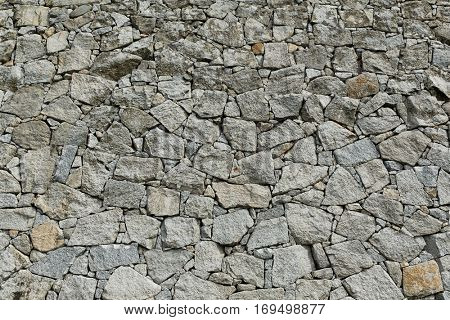 Wall of stones texture