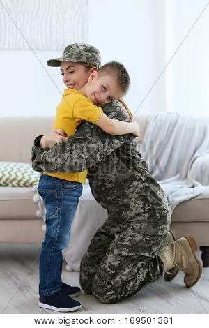 Soldier reunited with her family