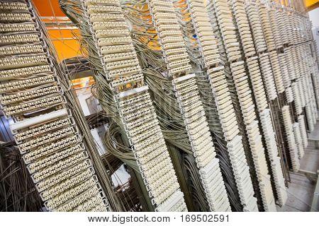 Rack mounted server in server room