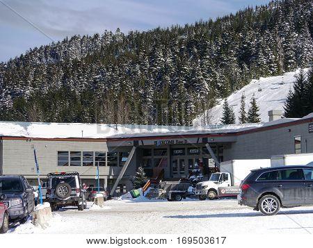 A Snowy Base 2 on Blackcomb Mountain early Feb 2017
