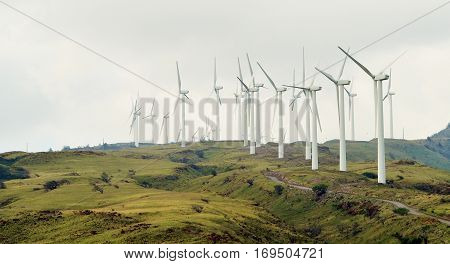 windmills on the island of Maui Hawaii