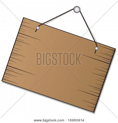 Vektor Holz Schild hängenden