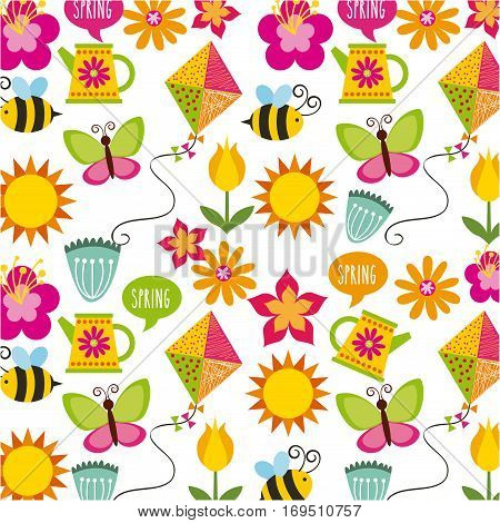 background of spring season concept. colorful design. vector illustration