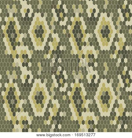 Snake skin texture. Seamless pattern python. Vector illustration