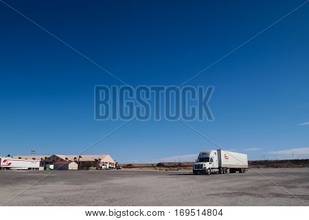 A Truck On The Rest Area