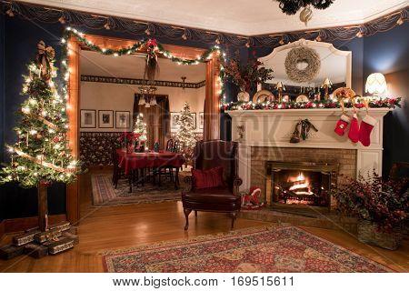 Victorian Christmas Interior