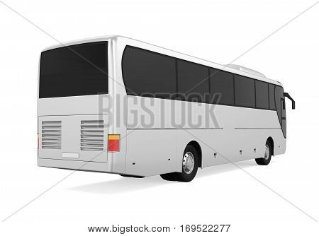 Coach Bus isolated on white background. 3D render