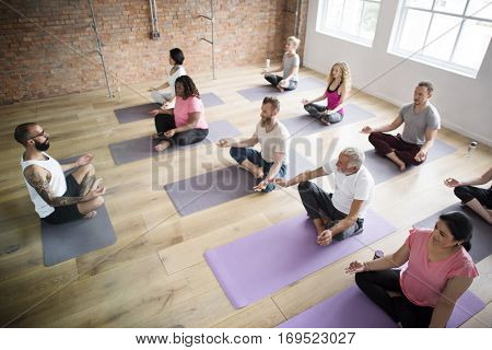 Exercise International Group Relaxation Fitness Concept