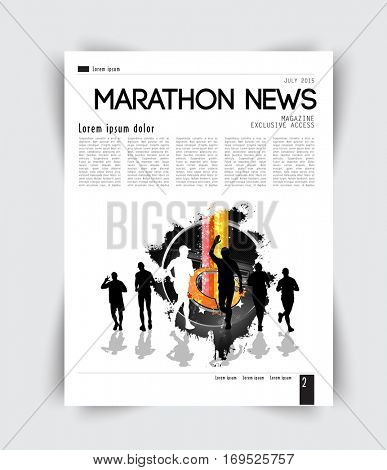 Sport layout magazine, vector