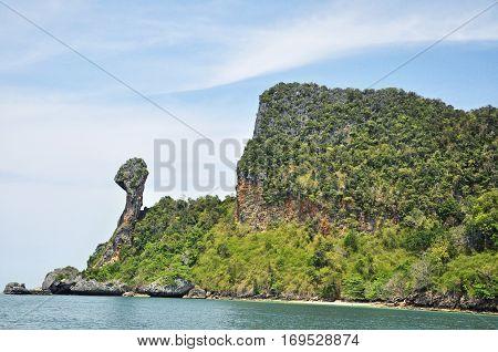 Chicken Island in Andaman sea, Krebi, Thailand
