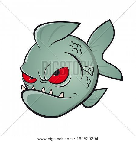 angry piranha clipart