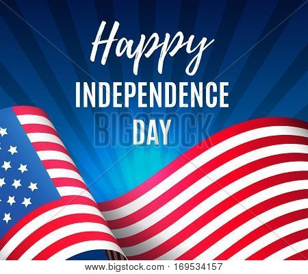 Independence Day 4 Th July. Happy Independence Day Of Usa , Fourth Of July . Vector Illustration. Ep