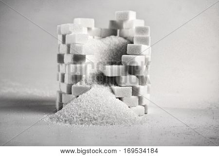 Lump sugar - close up