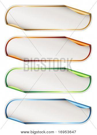 Vector stickers with metallic backs