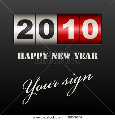 vector new year counter