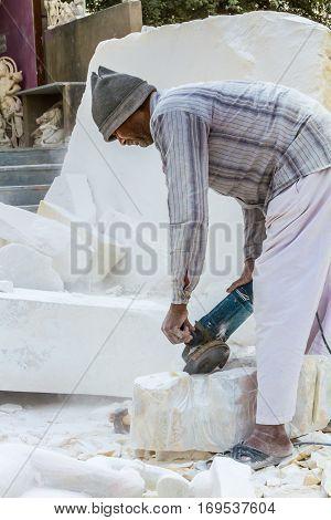Marble Carvers In Rajasthan