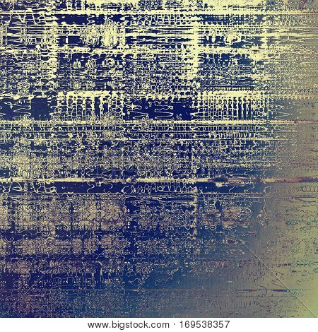 Old style design, textured grunge background with different color patterns: blue; purple (violet); gray; cyan; white