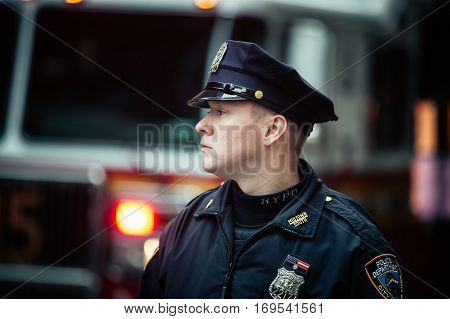 Nypd Police Officer In Nyc