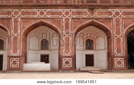 DELHI, INDIA - FEBRUARY 13: Humayun's Tomb, built by Hamida Banu Begun in 1565-72, Delhi, India on February 13, 2016