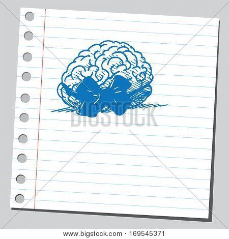 Brain with bow tie