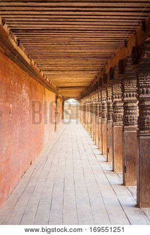 Bhaktapur Durbar Square Repeating Columns Hall V