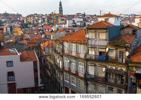Residential area in the Porto old town, Portugal.