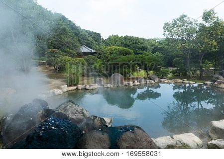 Hotsprings in Beppu city of Japan