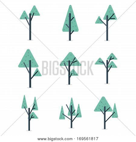 Stock of tree set vector flat collection