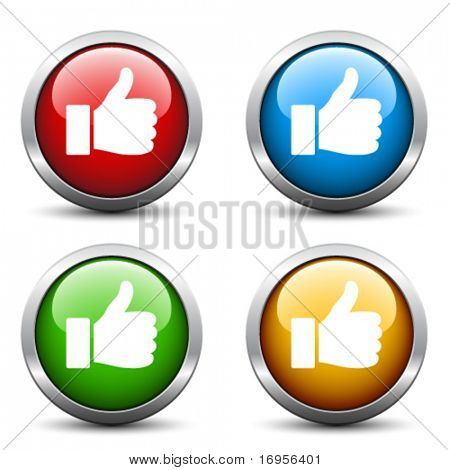 Vector thumb up buttons