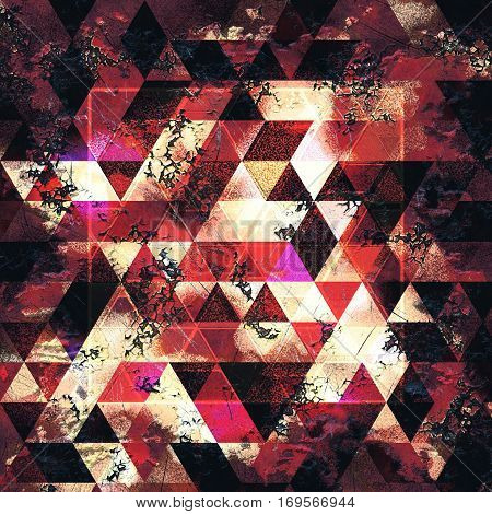 rusty geometry abstraction, triangle cover design, geometric shapes moder design pattern, geometric inspiration, best for page backgrounds, brochures or wall art