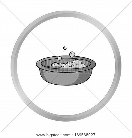 Baby bath icon in monochrome style isolated on white background. Baby born symbol vector illustration.