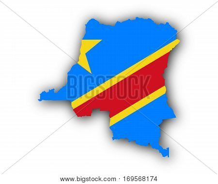 Map And Flag Of The Democratic Republic Of The Congo