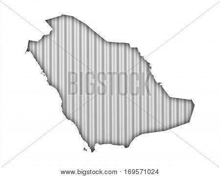 Map Of Saudi Arabia On Corrugated Iron