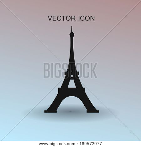 Eiffel tower Paris vector illustration