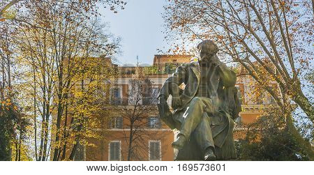 The bronze statue of Federico Seismit-Doda a Minister of Finances of the Kingdom of Italy.