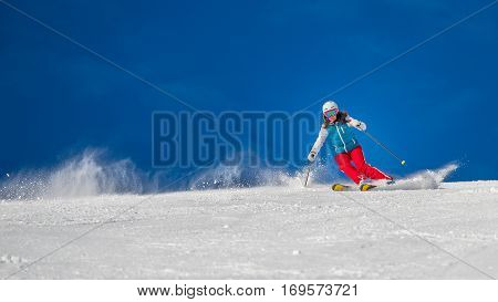 Woman Girl   Female On The Ski