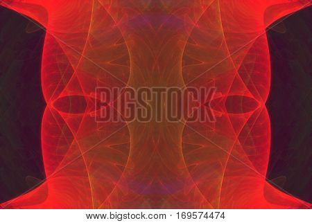 Red abstract background , cool modern horizontal fractal texture design art with space for your text.