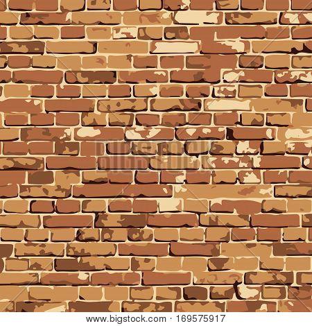 vector brick wall texture illustration, brickwall pattern. EPS