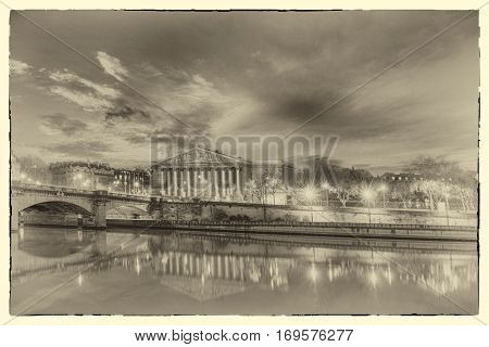 A post card from Paris - French National Assembly, Paris, France - Intentional noise