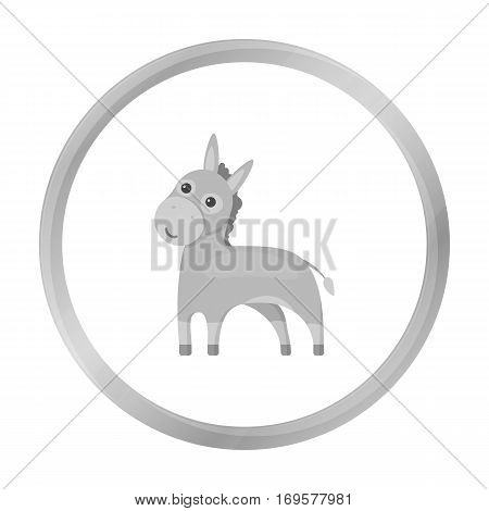 Donkey icon monochrome. Singe animal icon from the big animals monochrom Stock vector