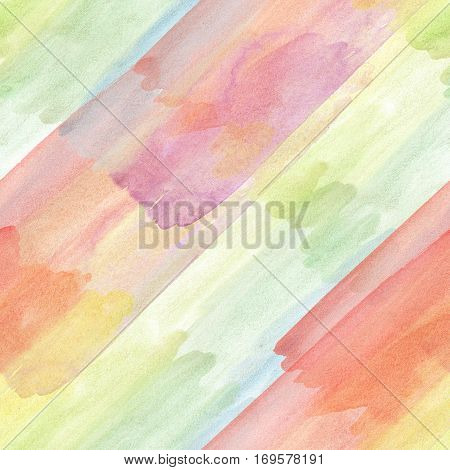 Multicolor background illustration. Seamless pattern illustration with watercolor drawing in doodle style.