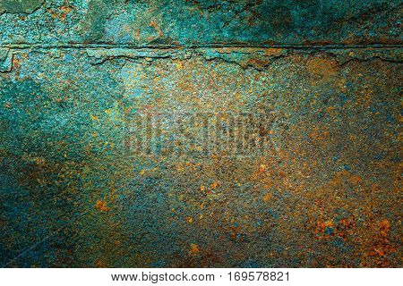 Rusty metal texture rusty metal background. Grunge retro vintage of rusty metal plate for design with copy space for text or image.