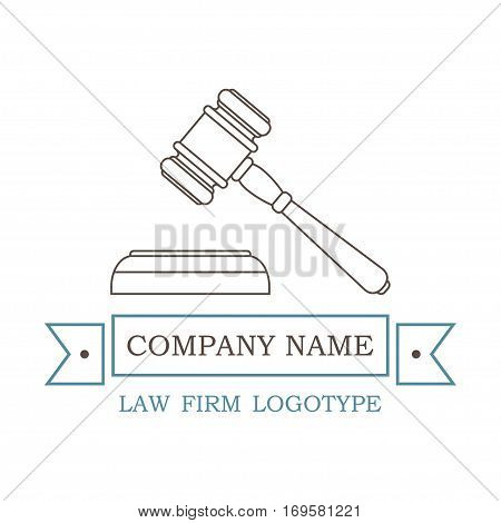 vector logotype for law firm, attorney or lawyer. EPS