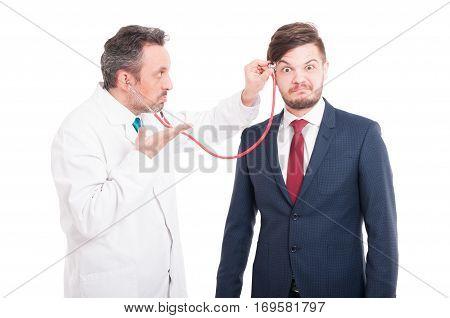Professional Medic Cheking  Head Of Insane Lawyer
