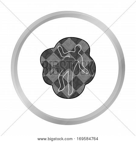 Scene of the crime icon in monochrome style isolated on white background. Crime symbol vector illustration.