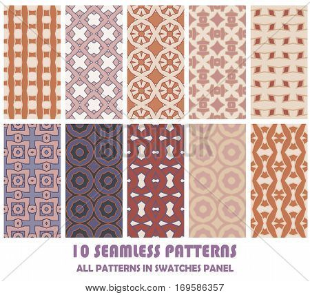 vector set of geometric patterns for design. eps 8