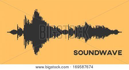 Soundwave Diagram. Vector Illustration Of A Soundwave
